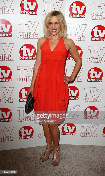 Beth Cordingly attends the TV Quick Tv Choice Awards at The Dorchester on September 7 2009 in London England