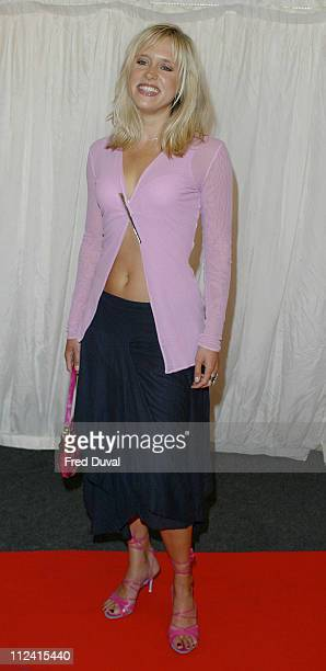 Beth Cordingly during ITV's Hell's Kitchen June 5 2004 in London England United Kingdom