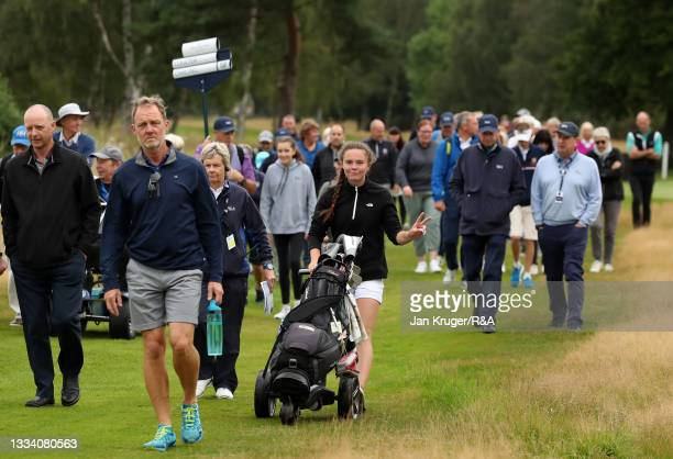 Beth Coulter of Kirkistown Castle reacts to the camera during the Final of the R&A Girls Amateur Championship at Fulford Golf Club on August 14, 2021...