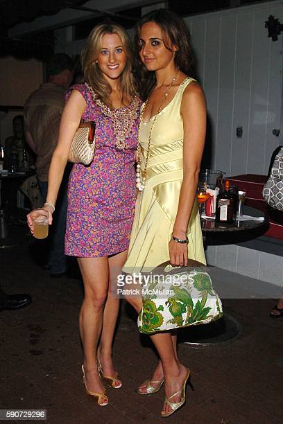 Beth Daigle and Alyssa Shelasky attend Vogue and Cointreau Cocktail Party hosted by Jesse Metcalfe at Star Room on July 16 2005 in Wainscott NY