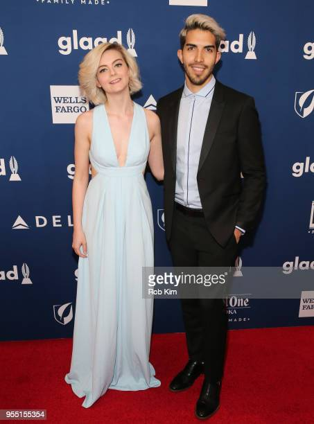 Beth David and Esteban Bravo attend the 29th Annual GLAAD Media Awards at Mercury Ballroom at the New York Hilton on May 5 2018 in New York City