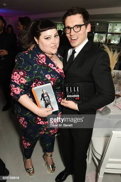 Beth Ditto and Erdem Moralioglu attend the Elle Style Awards 2017 after party on February 13 2017 in London England