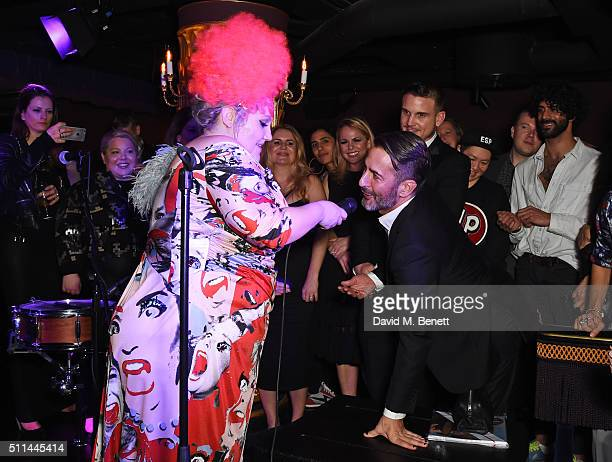 Beth Ditto and Marc Jacobs attend the Marc Jacobs Beauty dinner at the Club at Park Chinois on February 20 2016 in London England