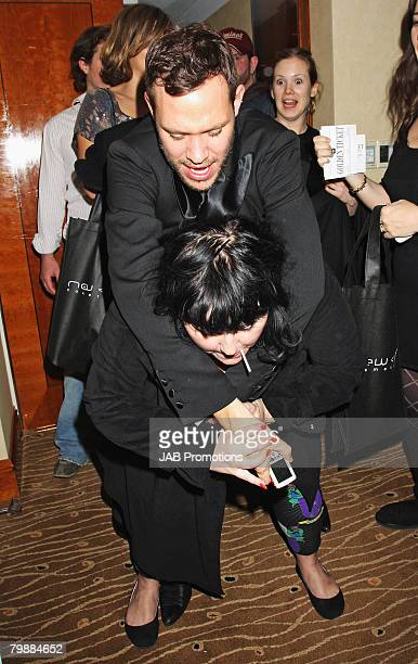 LONDON FEBRUARY 20 Beth Ditto and Will Young attend The Brits Awards 2008 Sony BMG After Party Sultans of Swag Gift Lounge at Galvin at Windows at...