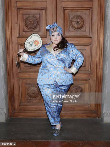Beth Ditto arrives at the Gucci Cruise 2018 fashion show at Palazzo Pitti on May 29 2017 in Florence Italy