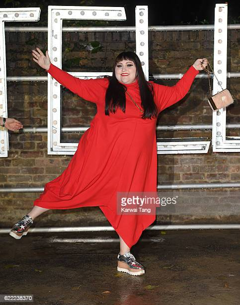 Beth Ditto arrives for the Stella McCartney Resort collection and menswear launch at Abbey Road Studios on November 10 2016 in London England