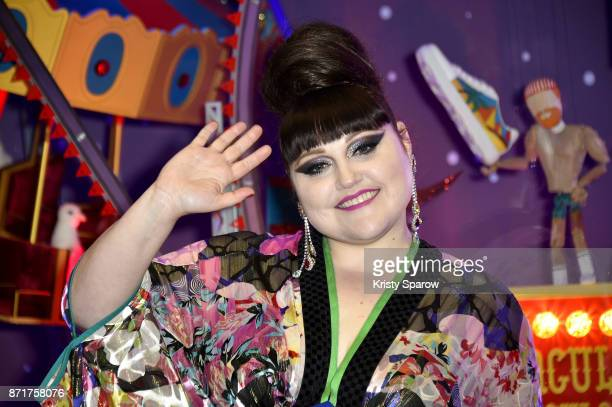 Beth Ditto attends the Christmas Decorations Inauguration at Galeries Lafayette Haussmann on November 8 2017 in Paris France