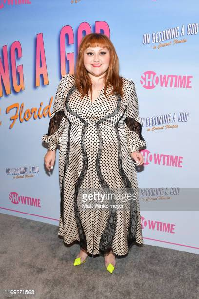 """Beth Ditto attends the First Look screening at Showtime's """"Becoming A God In Central Florida"""" at The London Hotel on August 20, 2019 in West..."""