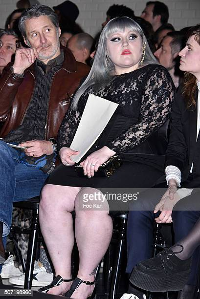Beth Ditto attends the Jean Paul Gaultier Spring Summer 2016 show as part of Paris Fashion Week on January 27 2016 in Paris France