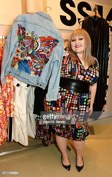 Beth Ditto fashion collection launch at Selfridges on February 18 2016 in London England