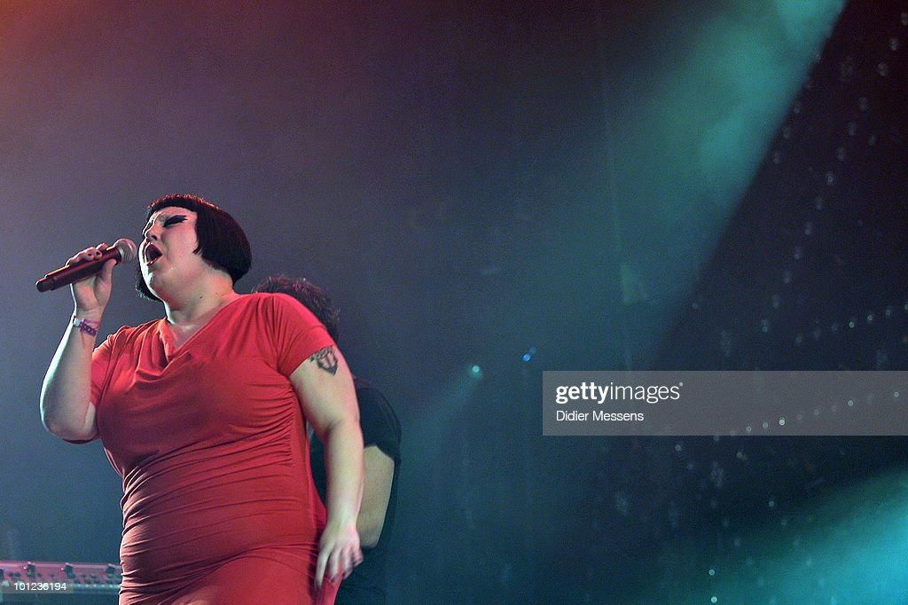 Beth Ditto of Gossip performs during the first day of Pink Pop Festival on May 28, 2010 in Landgraaf, Netherlands.