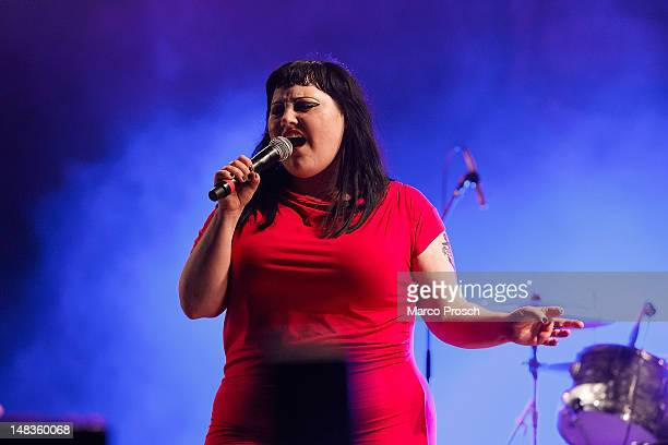 Beth Ditto of Gossip performs live at the Melt Festival in Ferropolis on July 14 2012 in Graefenhainichen Germany