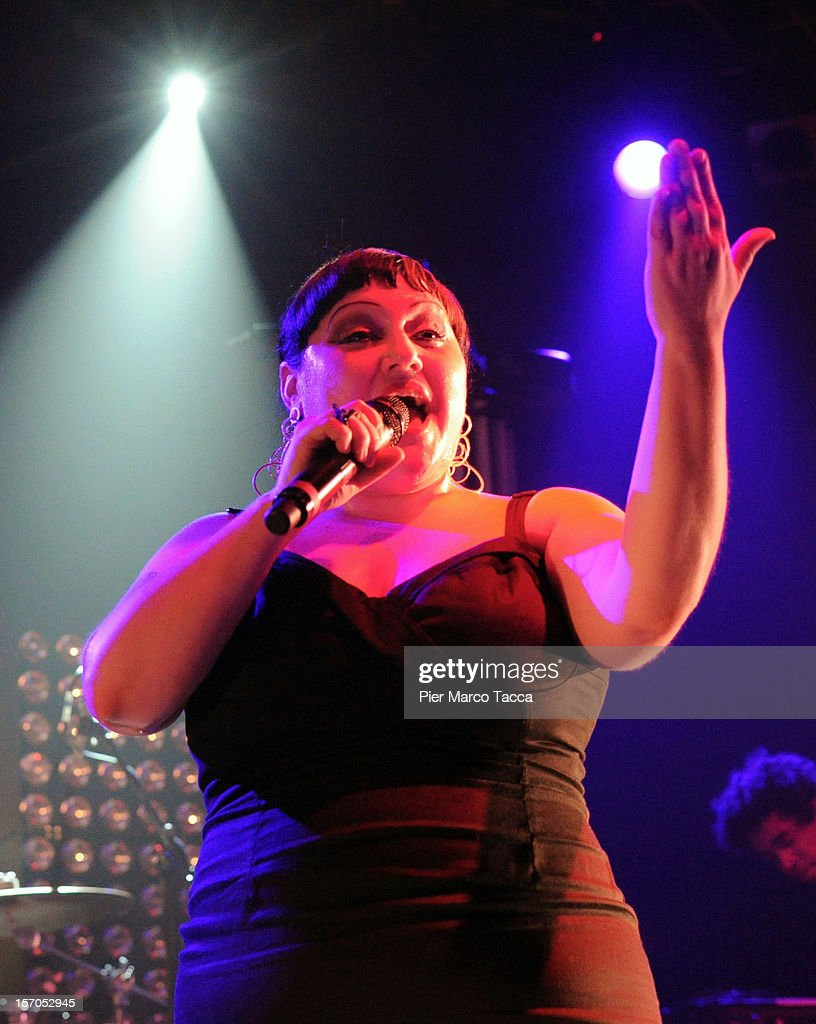 Beth Ditto of Gossip performs on stage at Alcatraz on November 27, 2012 in Milan, Italy.