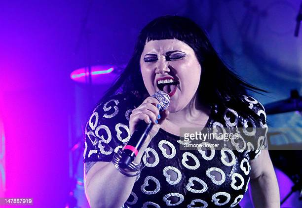 Beth Ditto of Gossip performs on stage at Shepherds Bush Empire on July 5 2012 in London United Kingdom