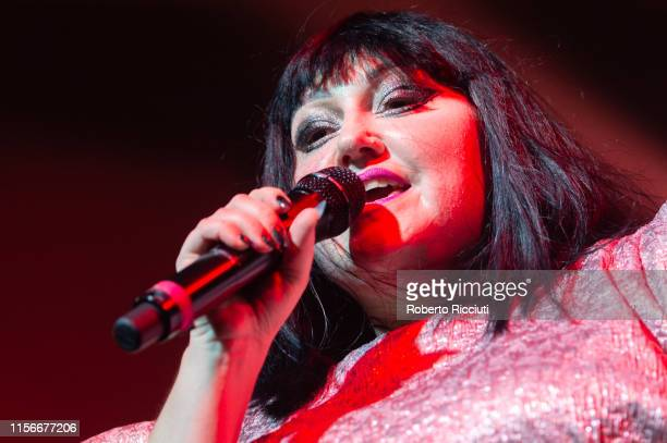 Beth Ditto of Gossip performs on stage at SWG3 on July 19 2019 in Glasgow Scotland