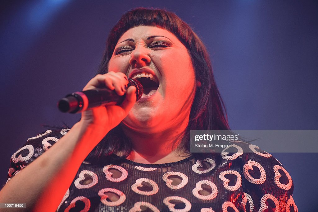 Beth Ditto of Gossip performs on stage at Zenith on November 19, 2012 in Munich, Germany.