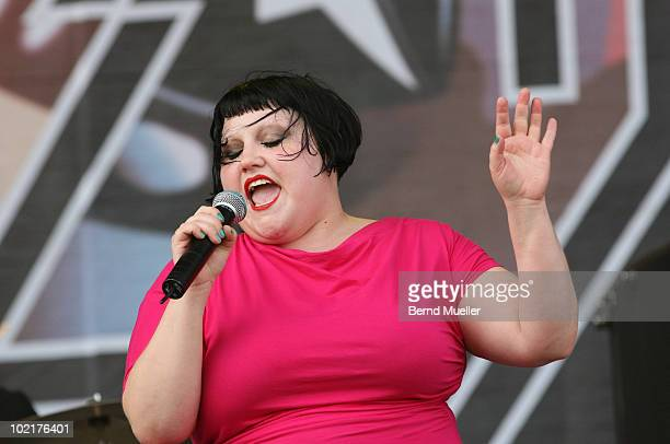 Beth Ditto of the band Gossip performs on stage during the final day of Rock Im Park Festival at Zeppelinfeld on June 6, 2010 in Nuremberg, Germany.