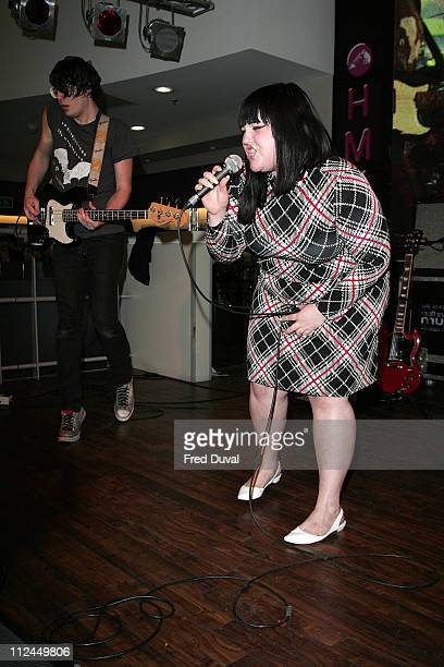 """Beth Ditto of The Gossip during """"The Gossip"""" In Store Performance at HMV Oxford Street in London - March 5, 2007 at HMW in London, Great Britain."""