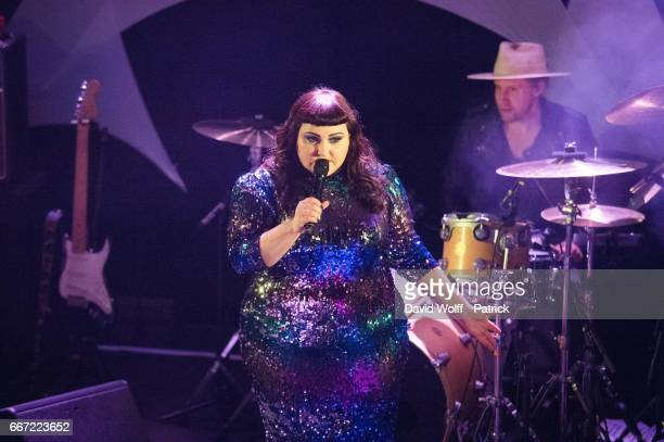 Beth Ditto performs at Flow Paris on April 10 2017 in Paris France