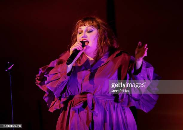 Beth Ditto performs at the gala dinner, in honour of Stella McCartney, winner of the Global VOICES Award for 2018, during #BoFVOICES on November 30,...