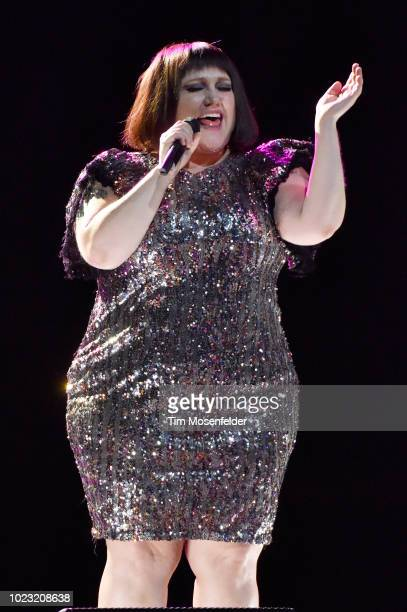 Beth Ditto performs during The Thrill of It All Tour at Golden 1 Center on August 24 2018 in Sacramento California