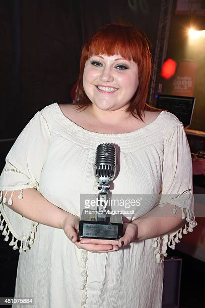 Beth Ditto received the Radio Gong microphone during the Muenchner Sommernachtstraum at Olympiapark on July 25 2015 in Munich Germany