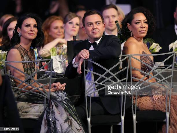 Beth Dover Joe Lo Truglio and Selenis Leyva during the 24th Annual Screen Actors Guild Awards at The Shrine Auditorium on January 21 2018 in Los...