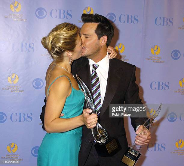 Beth Ehlers and Ricky Paull Goldin during 32nd Annual Daytime Emmy Awards Media Press Room at Radio City Music Hall in New York New York United States