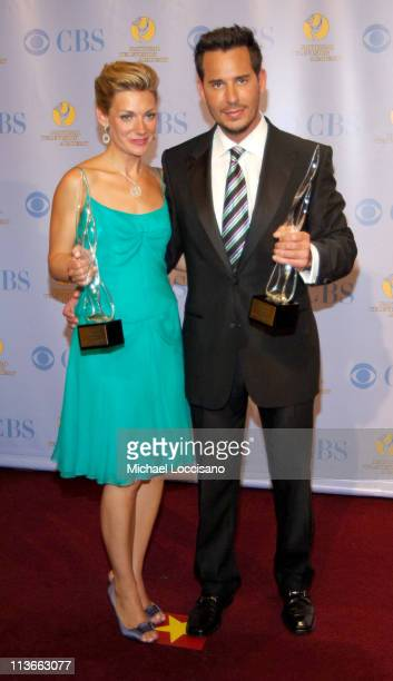 Beth Ehlers and Ricky Paull Goldin during 32nd Annual Daytime Emmy Awards Press Room at Radio City Music Hall in New York City New York United States