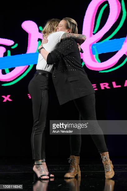 Beth Fairchild and Dana Donofree speak during Ana Ono Intimates Project Cancerland At New York Fashion Week Powered By Art Hearts Fashion NYFW 2020...