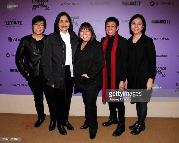 "Beth Frondoso, Glenda Gloria, Writer/Director Ramona S. Diaz and Maria Ressa attend the ""A Thousand Cuts"" Premiere during the 2020 Sundance Film..."