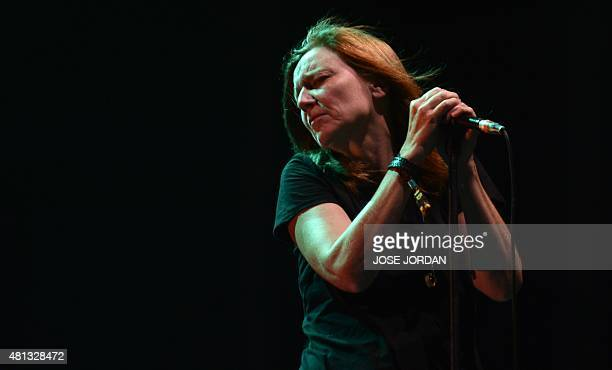UK Beth Gibbons of British band Portishead performs during the last day of the Benicassim International Festival in Benicassim on July 19 2015 AFP...
