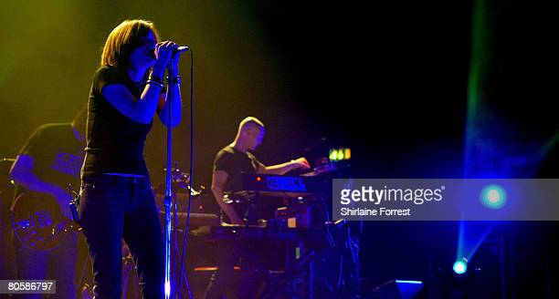 Beth Gibbons of Portishead performs at Apollo on April 9, 2008 in Manchester, England.
