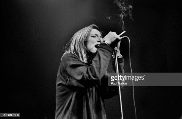 Beth Gibbons of Portishead performs at the Vic Theater in Chicago, Illinois, April 25, 1995.