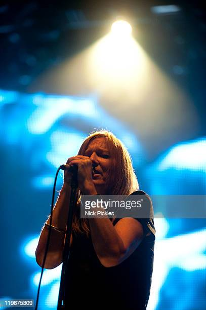 Beth Gibbons of the band 'Portishead' performs on day one of 'I'll Be Your Mirror' at Alexandra Palace on July 23, 2011 in London, England.