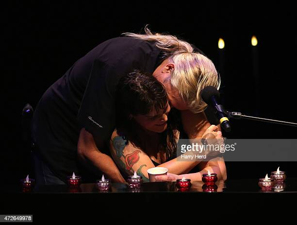 Beth Hart and husband Scott Guetzkow onstage at Barbican Centre on May 8 2015 in London England
