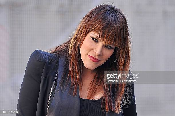 Beth Hart attends 'Quelli Che' Italian TV Show on February 10 2013 in Milan Italy