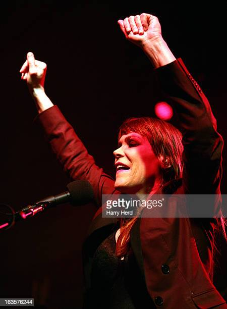 Beth Hart performs at Portsmouth Pyramids on March 12 2013 in Portsmouth England
