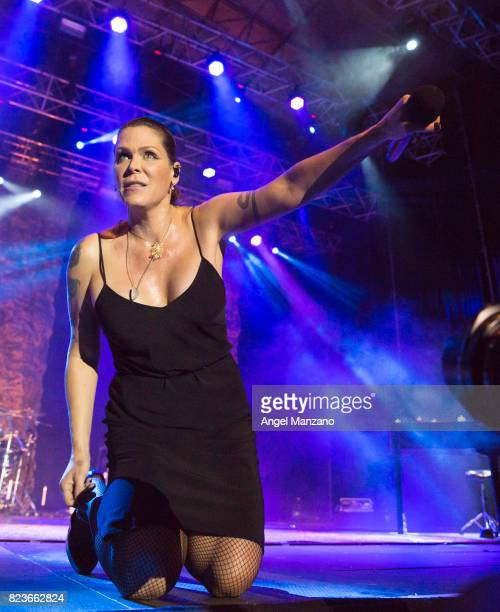 Beth Hart performs on stage at Noches del Botanico on July 27 2017 in Madrid Spain