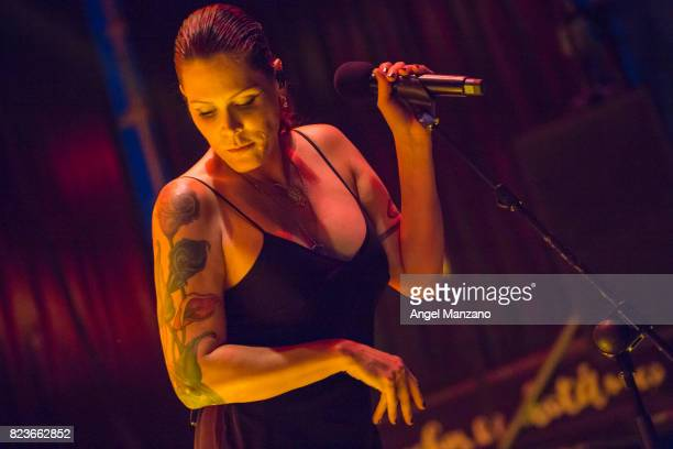 Beth Hart performs on stage at Noches del Botanico on July 27, 2017 in Madrid, Spain.