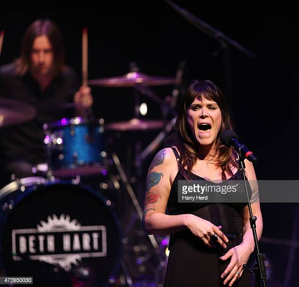 Beth Hart,Julian Rodriguez perform at Barbican Centre on May 8, 2015 in London, England.