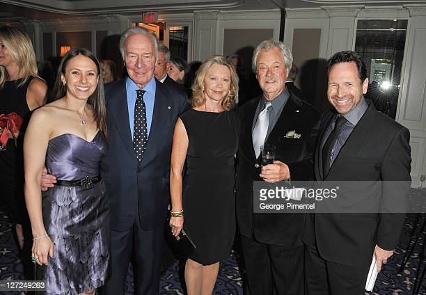 Beth Kronfeld actor Christopher Plummer Elaine Reginia Taylor actor Gordon Pinsent and Barry Avrich attend the Statford Shakespeare Festival tribute...