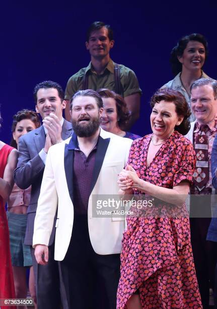 Beth Leavel and cast during the Broadway opening night curtain call bows of 'Bandstand' at the Bernard B Jacobs Theatre on 4/26/2017 in New York City