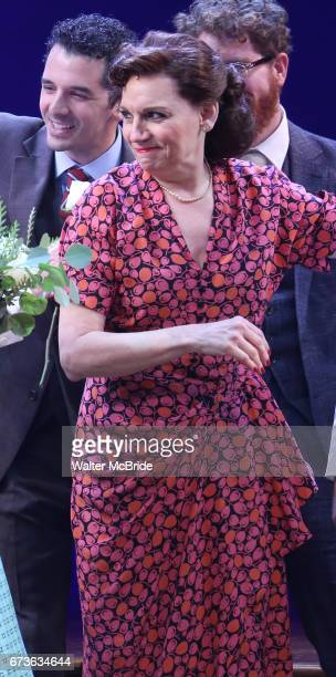 Beth Leavel during the Broadway opening night curtain call bows of 'Bandstand' at the Bernard B Jacobs Theatre on 4/26/2017 in New York City