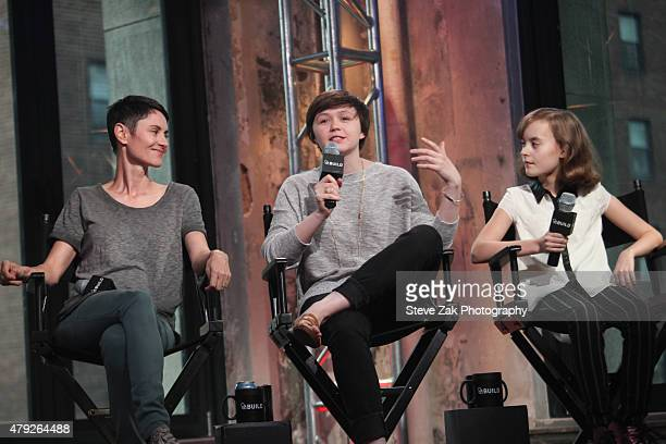 Beth Malone Alexandra Socha and Sydney Lucas discuss their Broadway show 'Fun Home' at AOL Build at AOL Studios In New York on July 2 2015 in New...