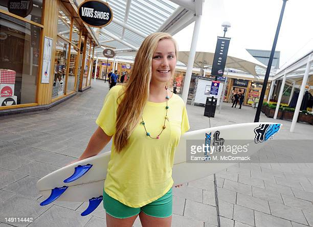 Beth Mason poses at McArthurGlen's Bridgend Designer Outlet which is partnering with the local ProSurfer to launch a motivational 'Sport Your Style'...