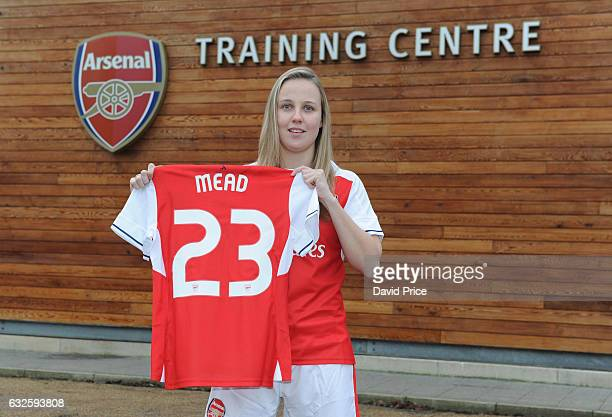 Beth Mead Arsenal Ladies latest signing at London Colney on January 23 2017 in St Albans England
