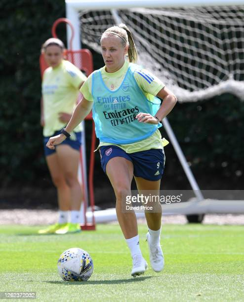 Beth Mead of Arsenal during the Arsenal Women training session at Arsenal Academy on July 29 2020 in Walthamstow England