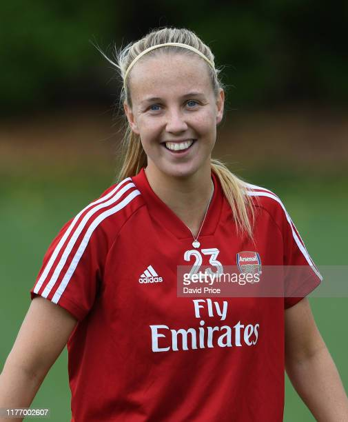 Beth Mead of Arsenal during the Arsenal Womens Training Session at London Colney on September 25 2019 in St Albans England