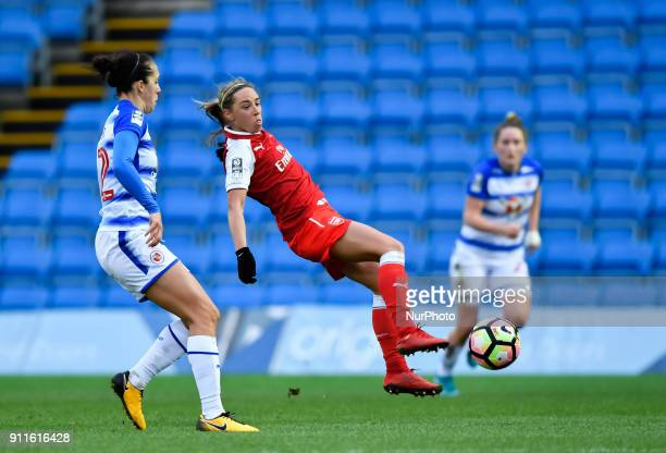 Beth Mead of Arsenal during Women's Super League 1 match between Reading FC Women against Arsenal at Wycombe Wanderers FC on 28 Jan 2018